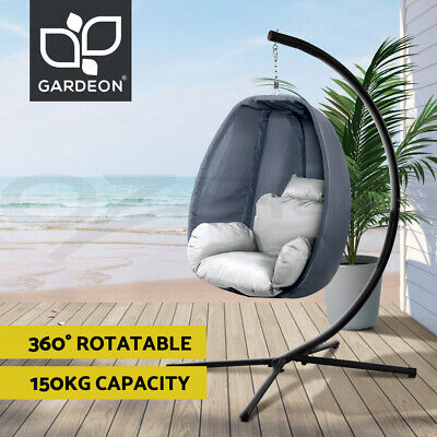 AU283.95 • Buy Gardeon Outdoor Furniture Lounge Swing Chair Egg Hammock Pod Chairs Canopy Seat