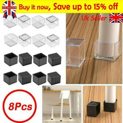 8x Silicone Rubber Chair Leg Caps Feet Pads Furniture Covers Floor Protector TA • 4.39£