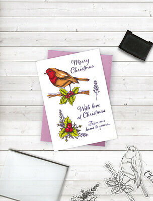 Crafter's Companion Festive Clear Photopolymer Stamp - Christmas Robin • 4.99£