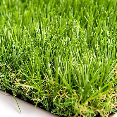 £23.50 • Buy Luxury 38mm Artificial Fake Grass Turf Offcut Remnant- 1m Wide X 2m Long