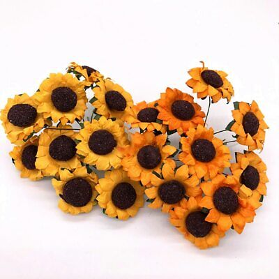 Diy Artificial Sunflower Flowers Gift Box Paper Mini Daisy Scrapbooking Craft • 1.59£