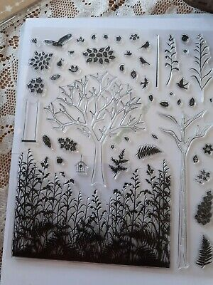 BRAND NEW  SELECTION OF LARGE CLEAR STAMPS   TREES AND FOREST X 49 • 2.25£