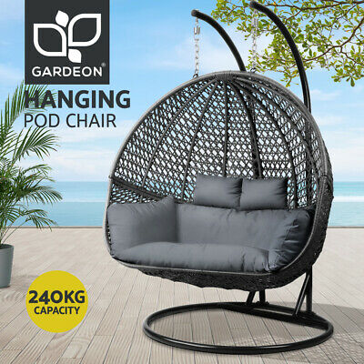 AU819.95 • Buy Gardeon Outdoor Furniture Lounge Swing Chair Hanging Egg Hammock Wicker 2 Person