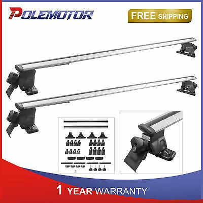 $83.91 • Buy 52  Aluminum Universal Top Cross Bar Roof Rack Kit For Car SUV With Roof Rails