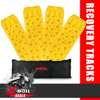 AU175.90 • Buy X-BULL Recovery Tracks Sand Snow Grass Truck 4WD Accessories 2 Pairs Yellow Gen3