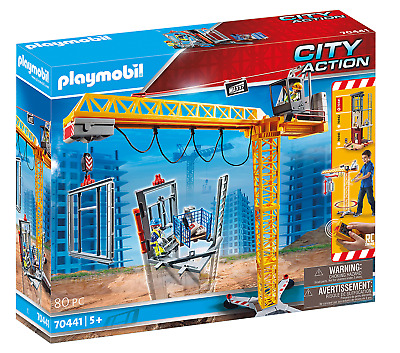 £72.40 • Buy Playmobil City Action RC Crane With Building Section Kids Play 70441 NEW