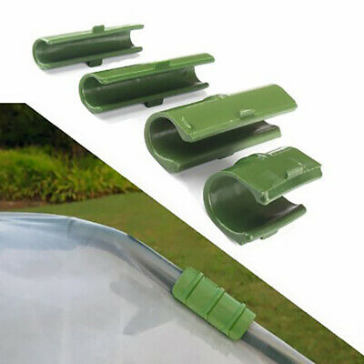 10pcs Greenhouse Frame Pipe Tube Film Clip Clamp Garden Shade Net Accessories HR • 3.39£