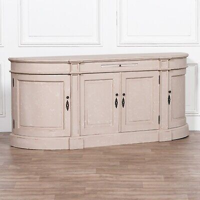 French Style Classic Rounded Buffet Wooden Large Aged Sideboard Cabinet Cupboard • 1,095£