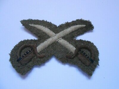 Physical Training Instructor Crossed Swords 2ww  Cloth Arm Patch   • 12£