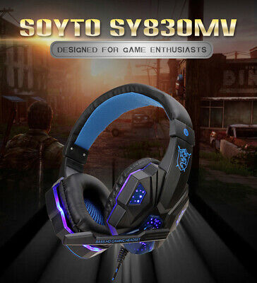 Gaming Headset Stereo LED Headset With Microphone For PS4 Console/Switch/ Laptop • 3.99£