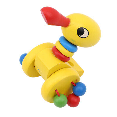 £5.78 • Buy Wooden Animal Push Pull Along Toy Trolley Pushing Baby Kids Toys Creativity Gift