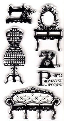 AT HOME PASEMOS UN TIEMPO CLEAR STAMP SHEET SET For CARD MAKING & SCRAP BOOKING • 3.95£