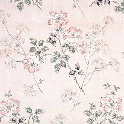 £39.85 • Buy 1950s Floral Vintage Wallpaper Pink Flowers With Long Green Stems And Leaves