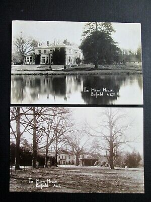 THE MANOR HOUSE, BINFIELD, BERKSHIRE - 2 X REAL PHOTO POSTCARDS (1925) • 9.50£
