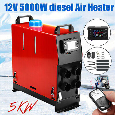 AU145 • Buy 5KW 12V Portable Air Diesel Heater Tank LCD Silencer Caravan Motorhome Remote AU