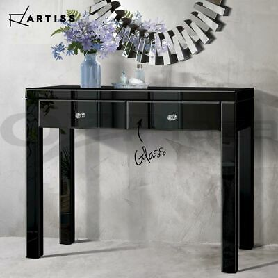 AU239.95 • Buy Artiss Mirrored Furniture Console Table Hallway Hall Entry Dressing Side Drawers