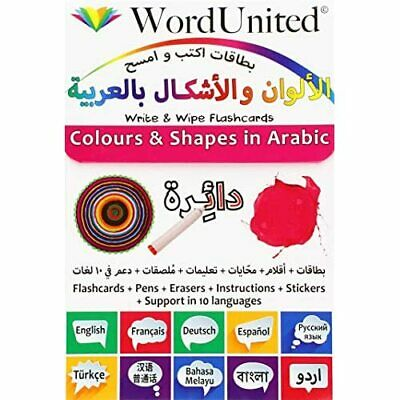 Colours And Shapes In Arabic: Write & Wipe Flashcards ( - Undefined NEW  05/10/2 • 11.64£