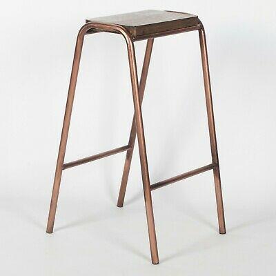 Seconds Industrial Science School Lab Copper Style Steel Wooden Bar Stool • 19.99£