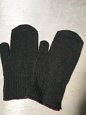 $18 • Buy 6 Pairs 100% Ragg Wool Cold Weather Army Military Mittens. Green, Size L