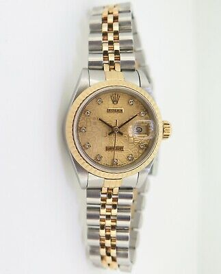 $ CDN6732.37 • Buy .Vintage 1991 Rolex Datejust Diamond Dial 18k & Steel 69173 Watch +Box +Serviced