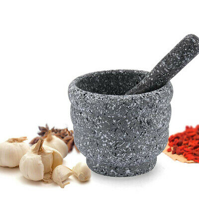£10.79 • Buy Grinder Granite Pestle And Mortar Set Stone Herb Spice Solid Crusher Home