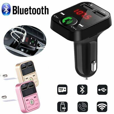 AU17.99 • Buy In-Car Bluetooth FM Transmitter Radio MP3 Wireless Adapter Car Kit 2 USB Charger