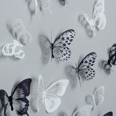 AU7.90 • Buy 18Pcs 3D DIY Wall Decal Stickers Butterfly Home Room Art Decor Decorations AU