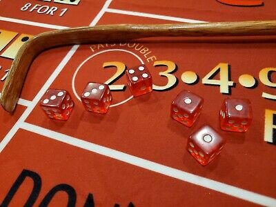 £436.46 • Buy Weighted 1/4/5s With Dead Deuce Bustout 16mm Clear Red Loaded Dice