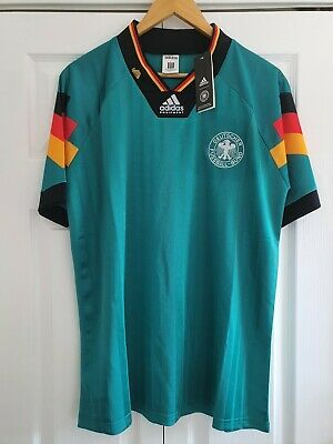 1992/94 Germany Away Shirt BNWT Retro Adidas Classic Mens L • 35£