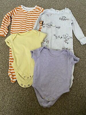 Baby Girls Sleepsuits And Vests 3-6 Months • 1.10£