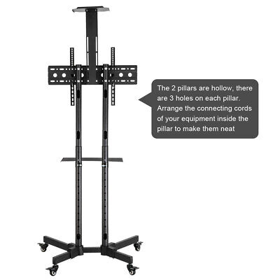 £65.50 • Buy Hot Mobile TV Cart Stand Mount Home Display For 32-70  Plasma/LCD Up To 60kg