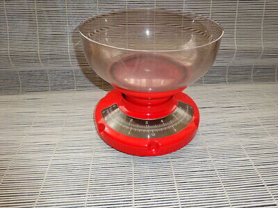 £19.50 • Buy Mid Century Modern Vintage Vibrant Red Kitchen Weighing Scales