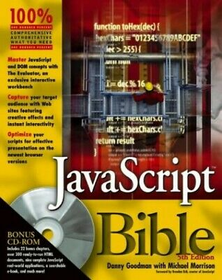 Javascript Bible By Morrison, Michael Paperback Book The Cheap Fast Free Post • 5.99£