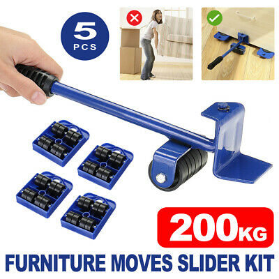 AU17.59 • Buy 5X Heavy Furniture Shifter Lifter Wheels Moving Slider Mover Kits Move Removal