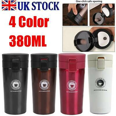 Insulated Travel Coffee Mug Cup Thermal Stainless Steel Flask Vacuum Thermos UK • 9.49£