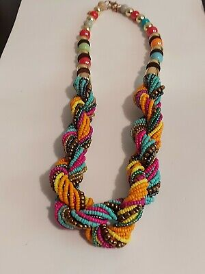 Multi Coloured Bead Necklace  • 9.99£