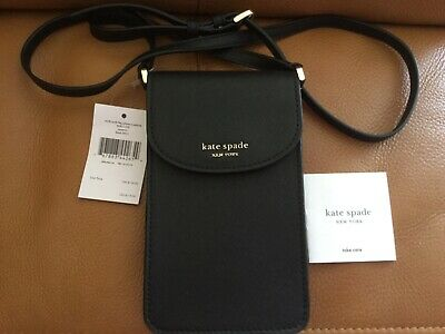 $ CDN92.48 • Buy Kate Spade Flap Phone Crossbody Noth South Cameron Black NWT$119.00