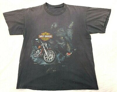 $ CDN198.68 • Buy Vintage Harley Davidson WOLF Fun-Wear Single Stitch Sz XL T-Shirt