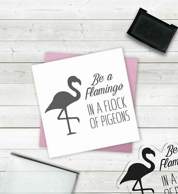 £2.49 • Buy Crafter's Companion Papercraft Scrapbooking Clear Acyrlic Stamp - Be A Flamingo