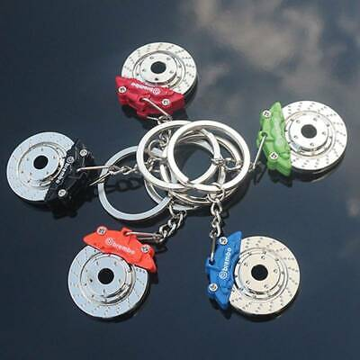 JDM Car Parts Tuning Multicolor Brake Disc Shape Caliper Keychain Keyring • 3.99£