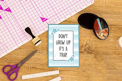 Crafter's Companion Papercraft Scrapbooking Clear Acrylic Stamp - Don't Grow Up • 2.49£