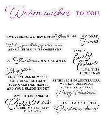 Crafter's Companion - Sentiment & Verses Clear Acrylic Stamp - Warm Wishes • 5.99£