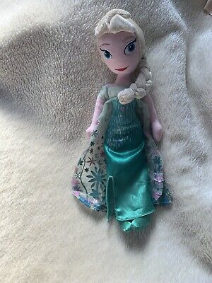 Disney Frozen Fever Princess Elsa Plush Soft Cuddly Toy Doll • 6.50£