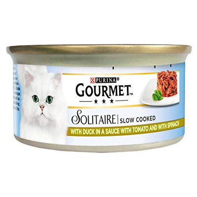 Gourmet Solitaire Cat Food With Duck And Vegetables Tin 85g Pack Of 6 • 17.12£