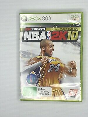 AU30 • Buy Xbox 360 NBA 2K10 1999-2009 Tenth Anniversay With Kobe Bryant Cover