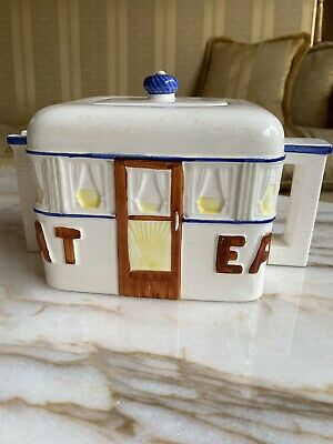 Ceramic Teapot In Shape Of A House Cottage New Vintage • 20£