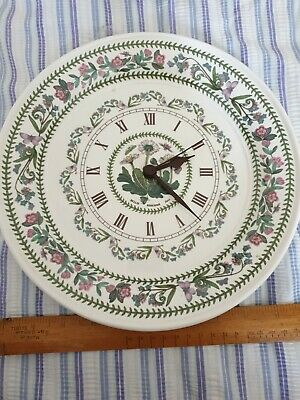 Portmeirion Botanic Garden Plate Clock - Daisy Variations 11 Inc Working  • 24£