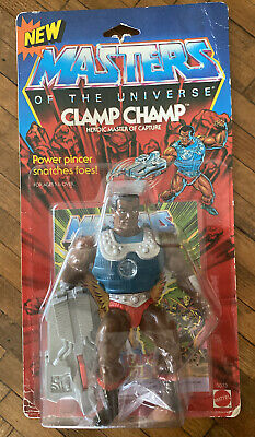 $399.99 • Buy MOTU VINTAGE CLAMP CHAMP Masters Of The Universe MOC Sealed He-Man Clear Blister