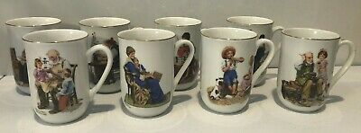 $ CDN19.45 • Buy Norman Rockwell Coffee Cups Mugs Set Of 8 - 1982 Museum Collection