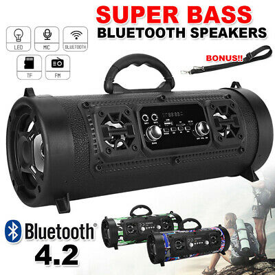 AU31.45 • Buy Portable Wireless Bluetooth Speakers Stereo Bass Outdoor Subwoofer USB/TF/ Radio